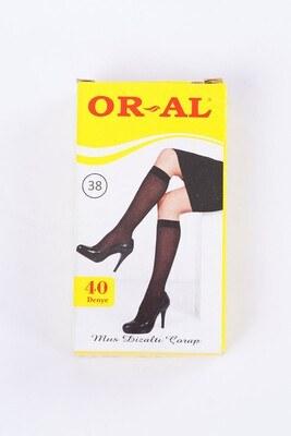 40 Den Mus Bronz Diz Altı Çorap - Thumbnail