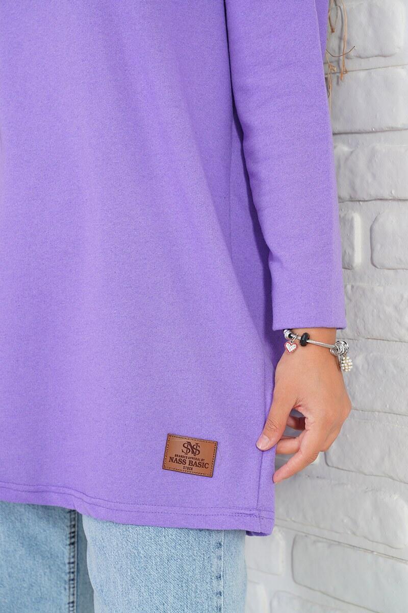 Basic Sweatshirt Lila Tunik