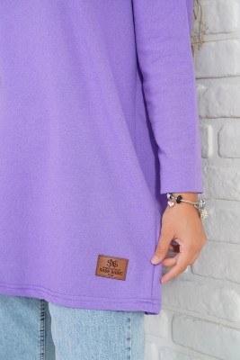 Basic Sweatshirt Lila Tunik - Thumbnail