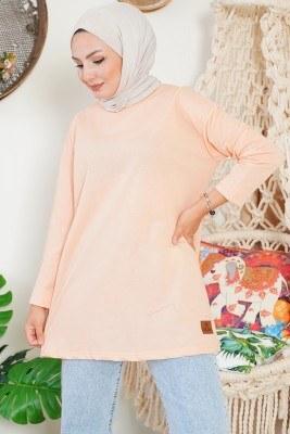 Basic Sweatshirt Somon Tunik - Thumbnail