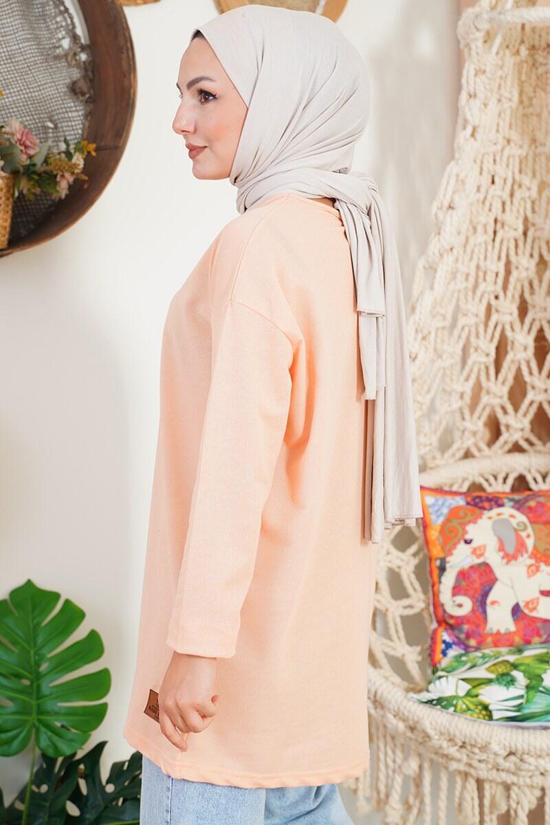 Basic Sweatshirt Somon Tunik