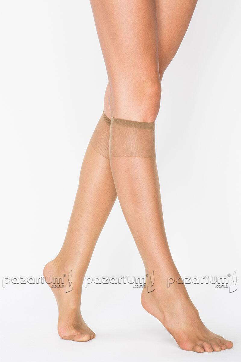 Penti Burunlu Diz Altı Çorap - Vizon