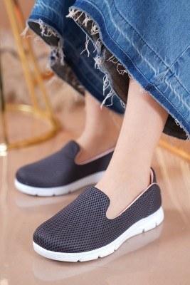 Bayan Fileli Füme Spor Ayakkabı - Thumbnail