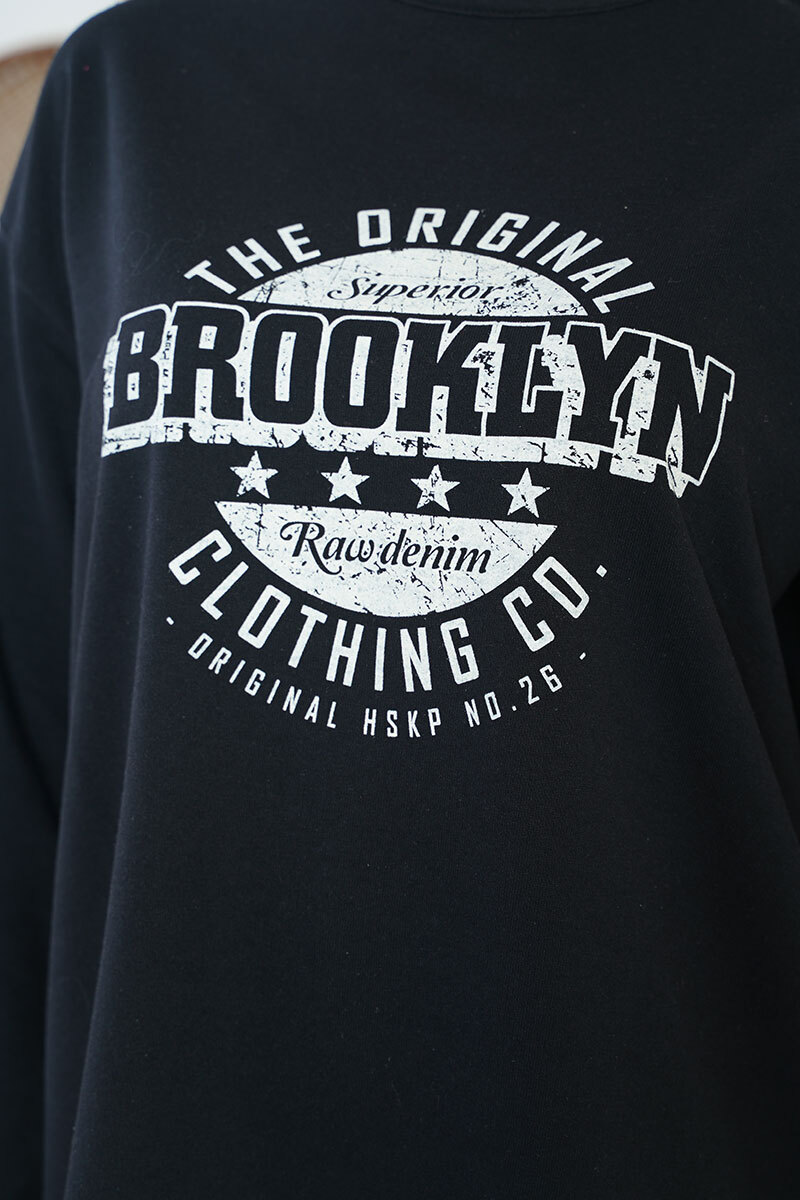 Brooklyn Serisi Siyah Tunik