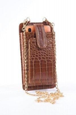 Telefon Bölmeli Taba Cüzdan Çanta - Thumbnail