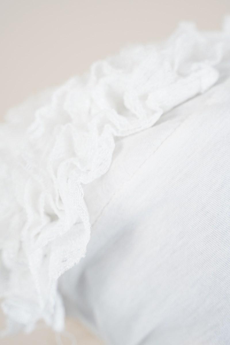 Dantel Fırfırlı Beyaz Bone