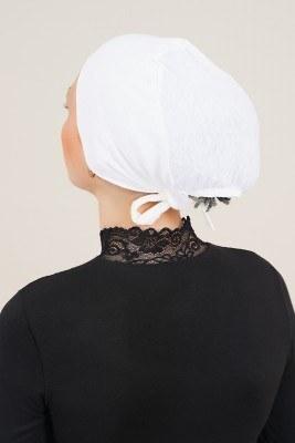 Dikişsiz Model Beyaz Bone - Thumbnail