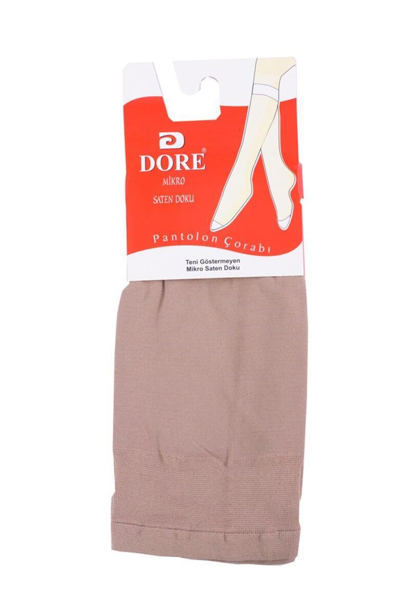 Dore Mikro Saten Ten Diz Altı Çorap