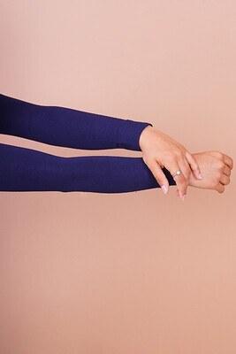 Düz Model Lacivert Tesettür Kolluk - Thumbnail
