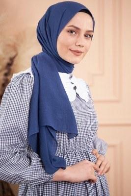 Elegant Serisi Lacivert Şal - Thumbnail
