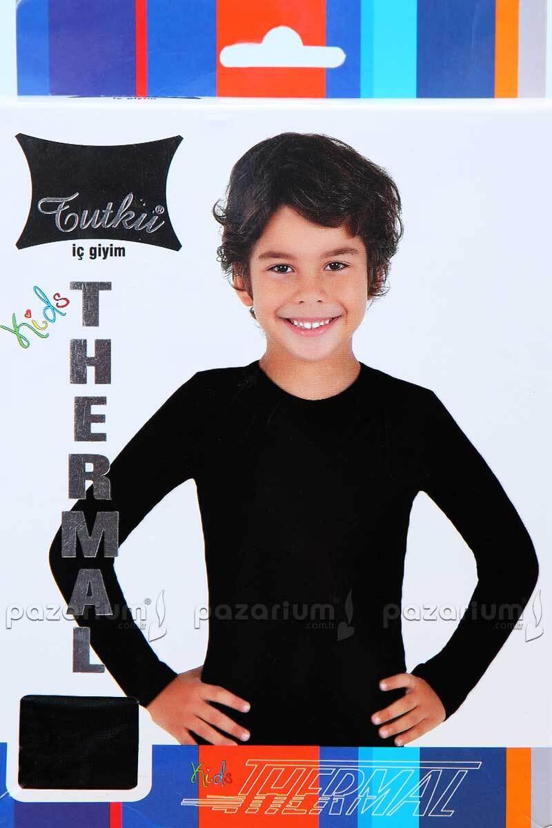 Erkek Çocuk Uzun Kol Fanila - Siyah