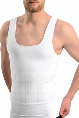 Formactive Ekstra Etkili Erkek Beyaz Korse Atlet - Thumbnail