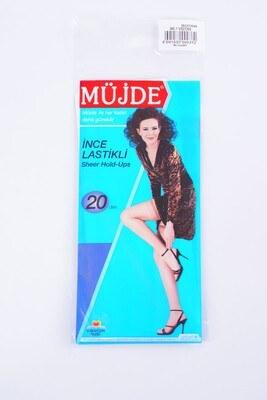 İnce Lastikli 20 Den Vizon Diz Üstü Çorap - Thumbnail