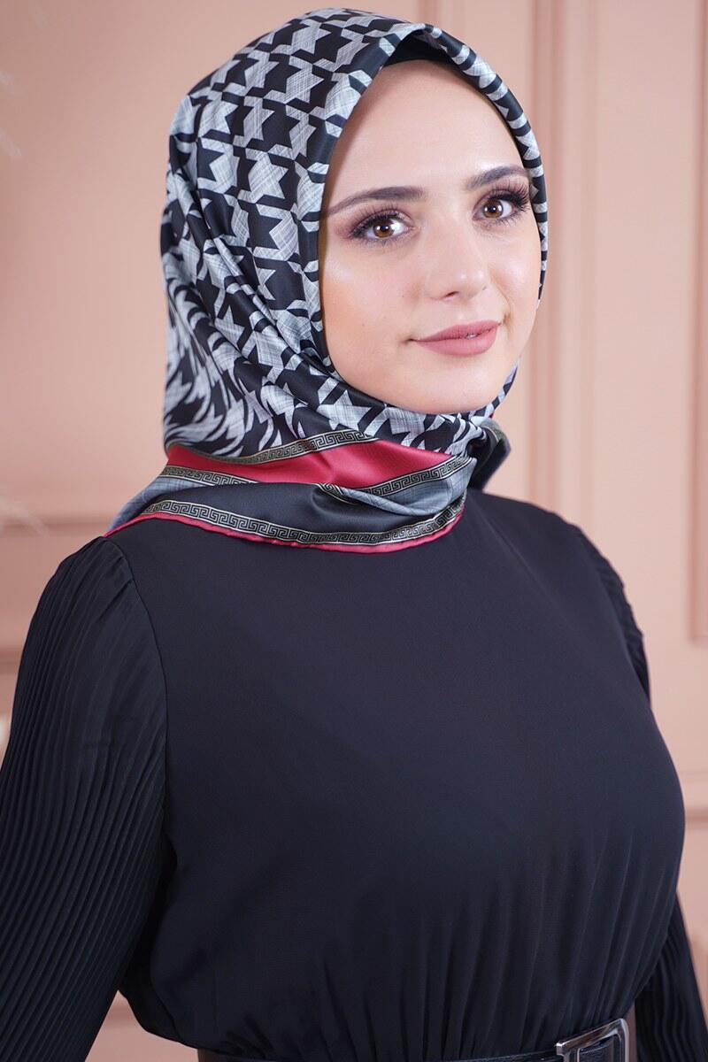 Kazayağı Serisi Füme Bordo Eşarp