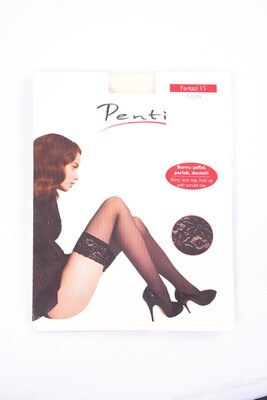 Penti Fantazi Beyaz Jartiyer Çorabı - Thumbnail