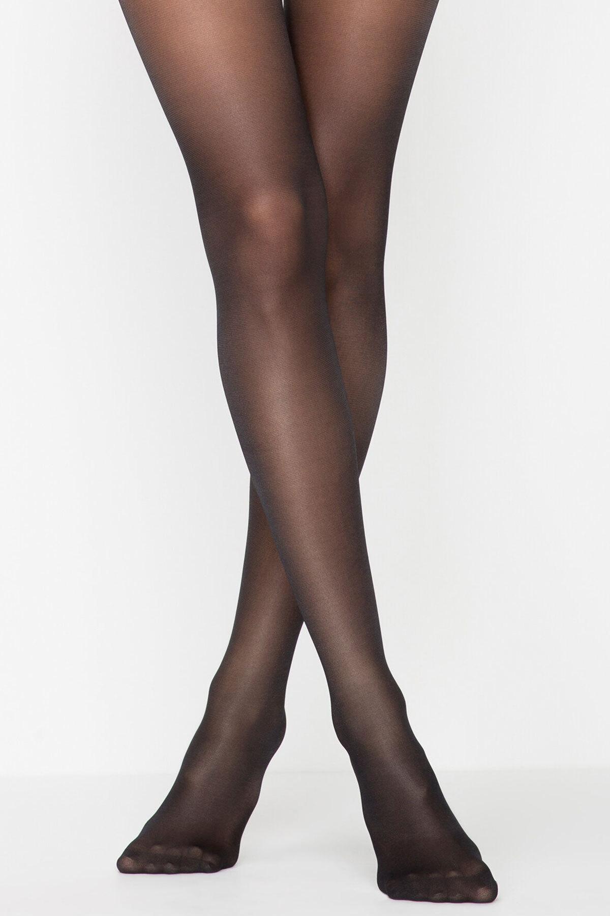 Penti Siluet Korseli Külotlu Çorap - Siyah
