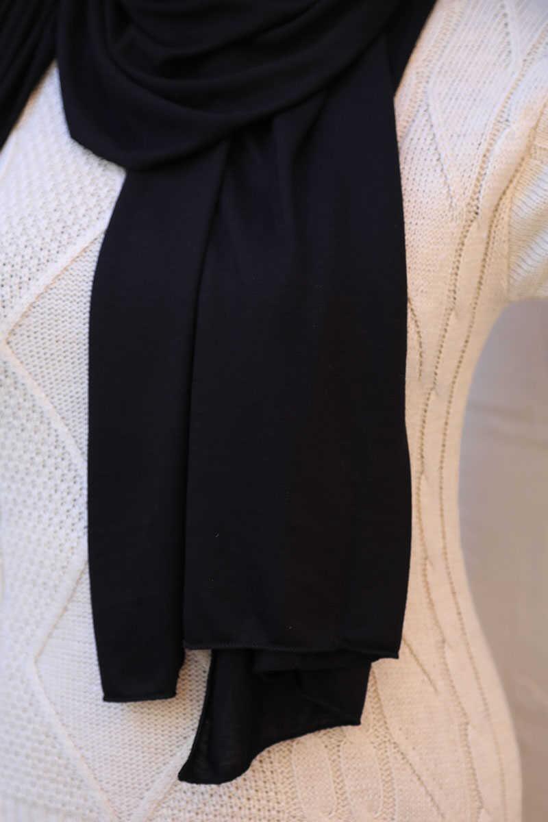 Penye Şal Siyah