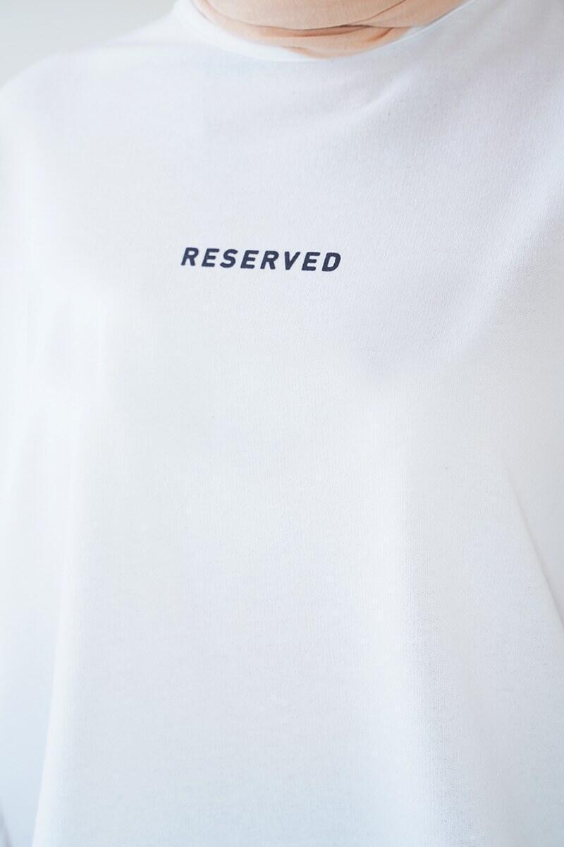 Reserved Serisi Beyaz Tunik