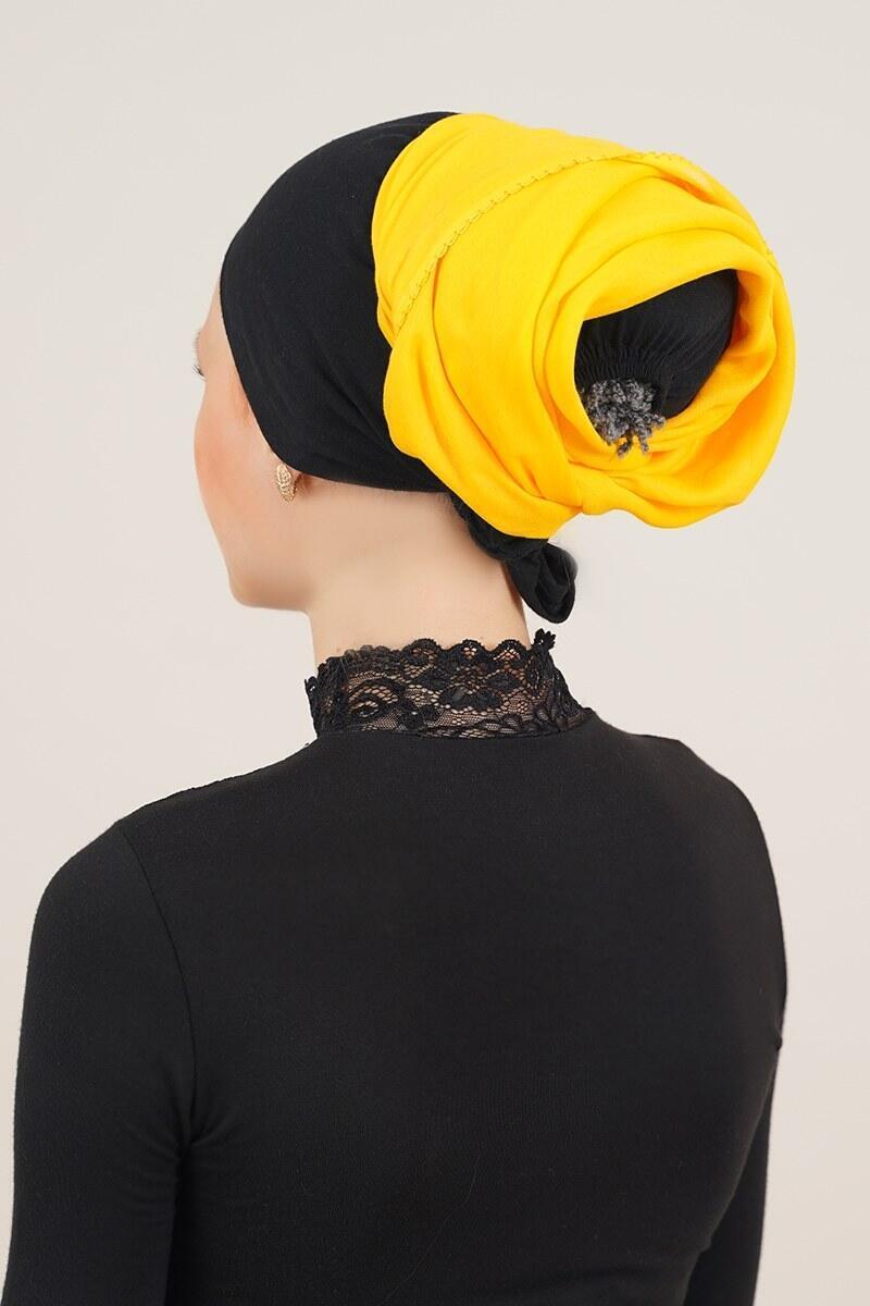 Sarı İç Başörtüsü