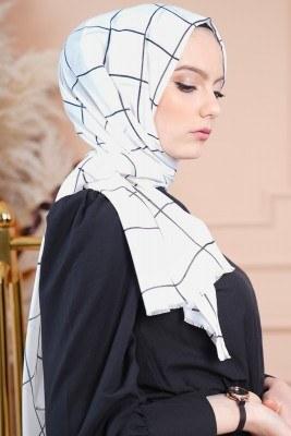 Black White Serisi Macide Şal - Thumbnail