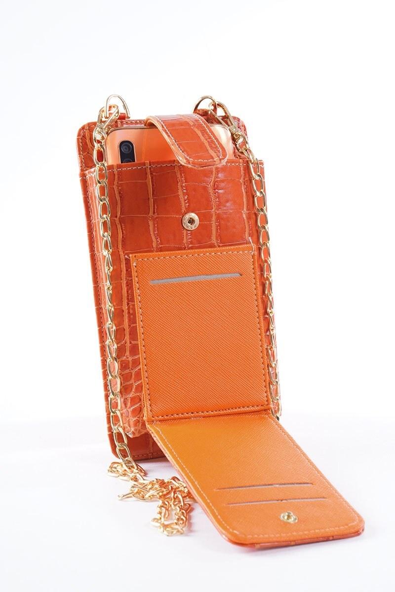 Telefon Bölmeli Kiremit Cüzdan Çanta