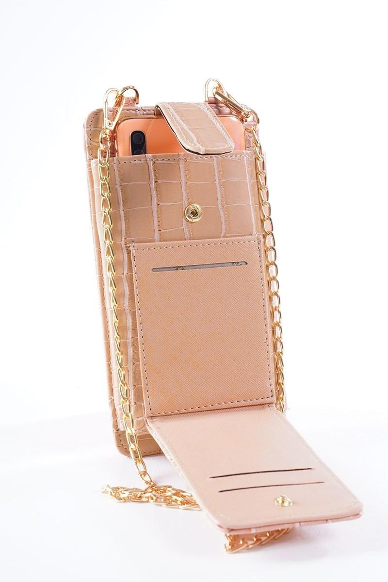 Telefon Bölmeli Pudra Cüzdan Çanta