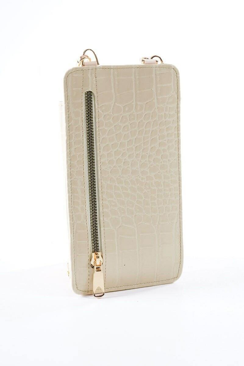 Telefon Bölmeli Vizon Cüzdan Çanta