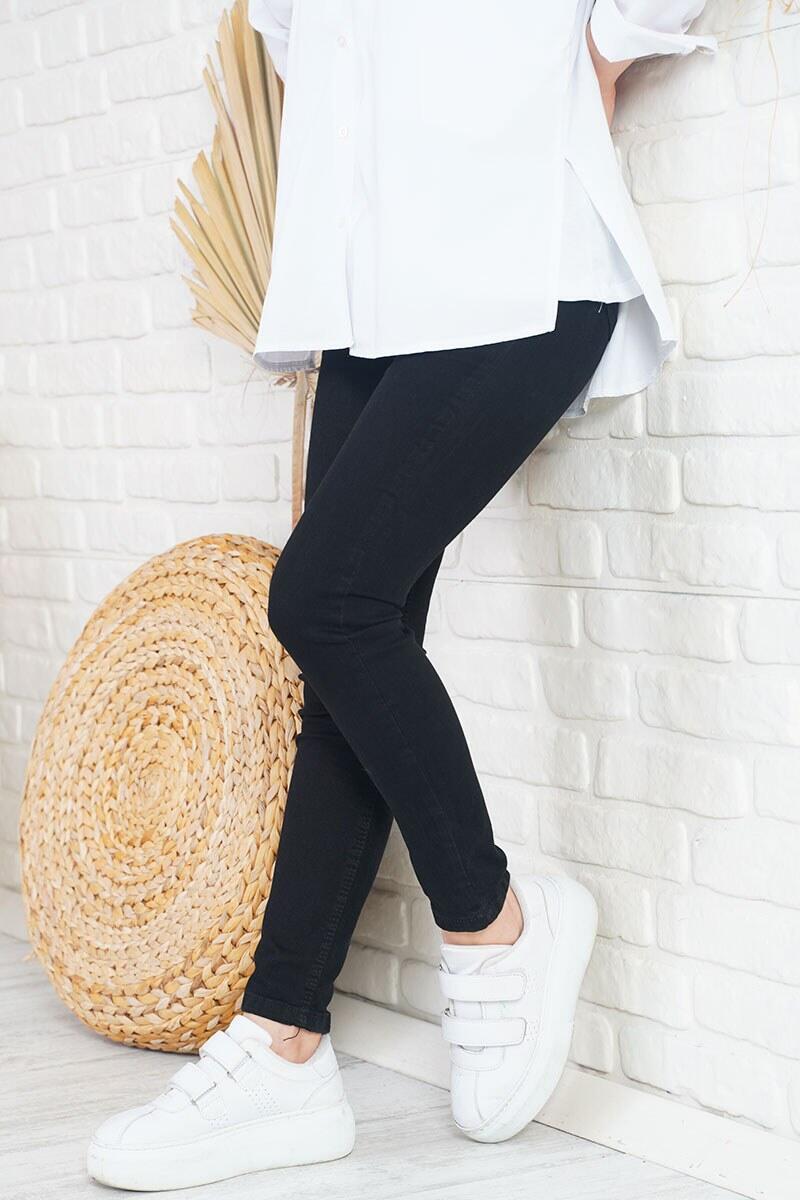 Yüksek Bel Büyük Beden Siyah Jean